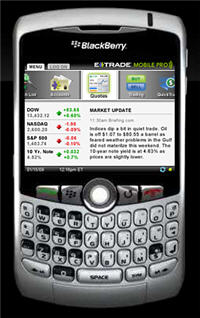 Etrade Mobile Pro for the BlackBerry