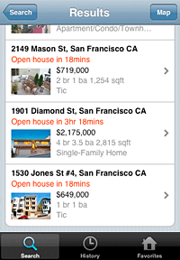 Homefinder Real Estate IPhone App