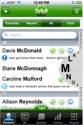 Orbit Social Phonebook iPhone App Review