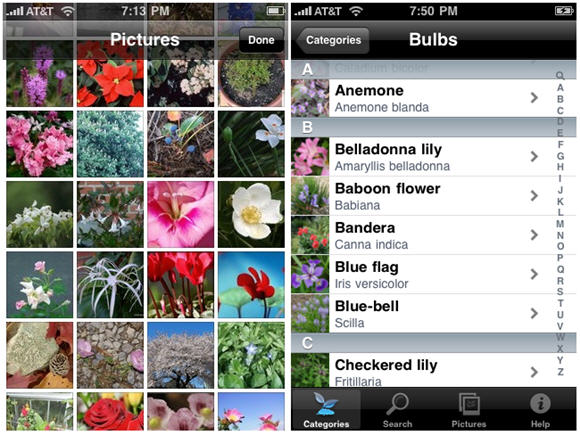 Look up Many Plants with Landscaper's Companion App for iPhone