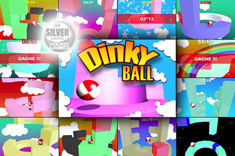 Beat Gravity with Dinky Ball App for iPhone