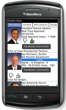 Keep things transparent with Visible Vote app for BlackBerry