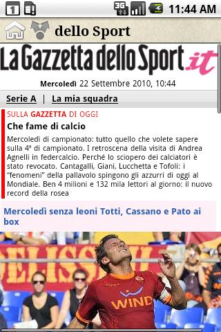 Special limited offer on Gazzetta dello Sport App for BlackBerry