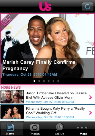 US Weekly App for iPhone gives you the power to follow the power