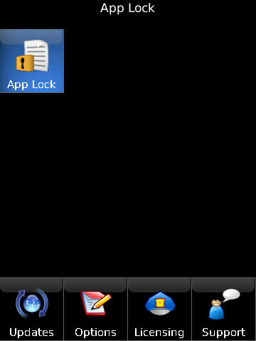 Blackberry AppLock App