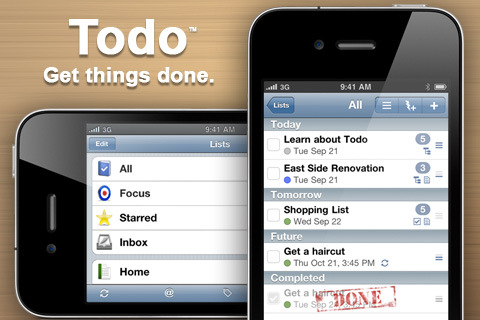 Todo Task Manager app for iPhone