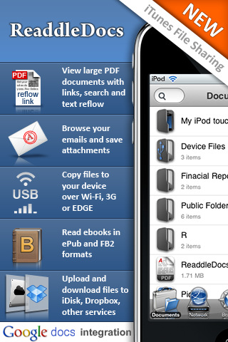 ReaddleDocs App for iPhone