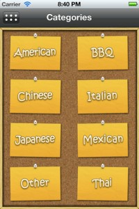 My Takeout Menus App for iPhone