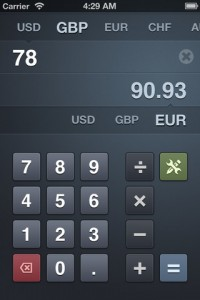 Banca Beautiful Currency Converter App for iPhone