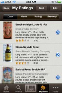 Beer Buddy Barcode Scanner App for iPhone