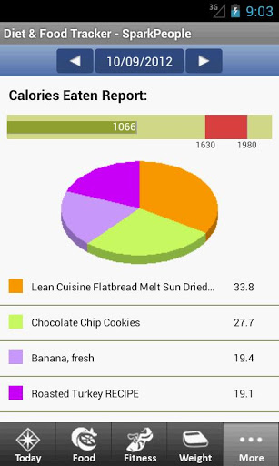 review of diet and food tracker android app