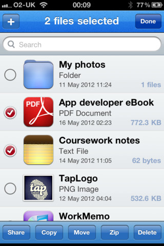 File Manager App for iPhone
