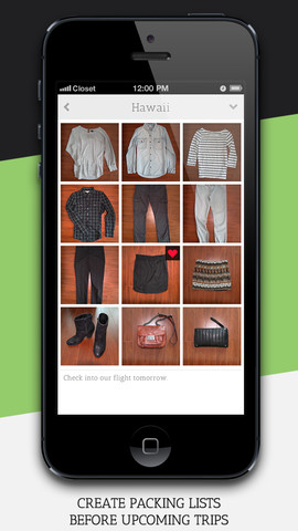 Closet – Clothing Organized App for iPhone