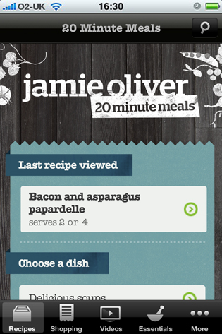 Jamie's 20 Minute Meals App for Android