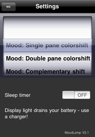 Moodlamp 2 App for iPhone