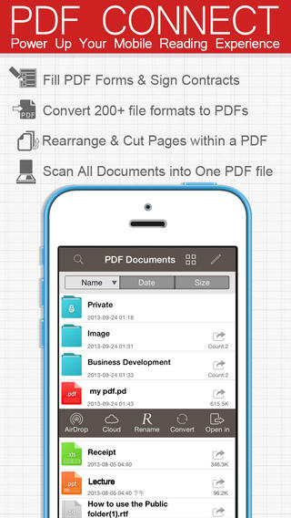 PDF Connect App for iPhone