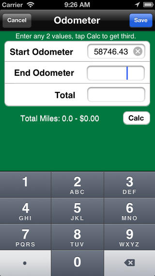 MileBug App for iPhone