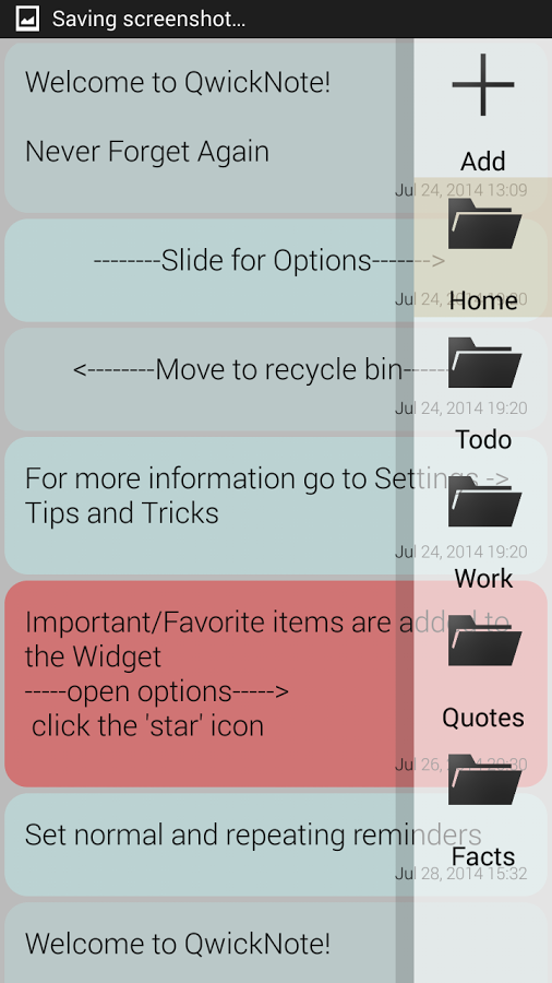 QwickNote Pro App for Android