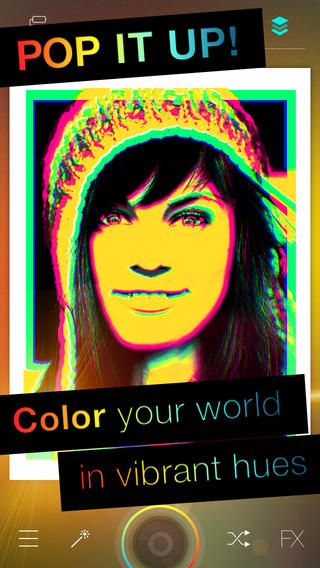Popkick Colorful Camera iPhone App
