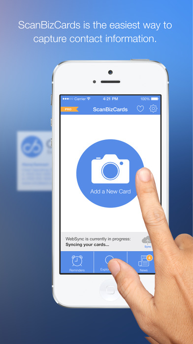 Scanbizcards business card reader iphone app review colourmoves