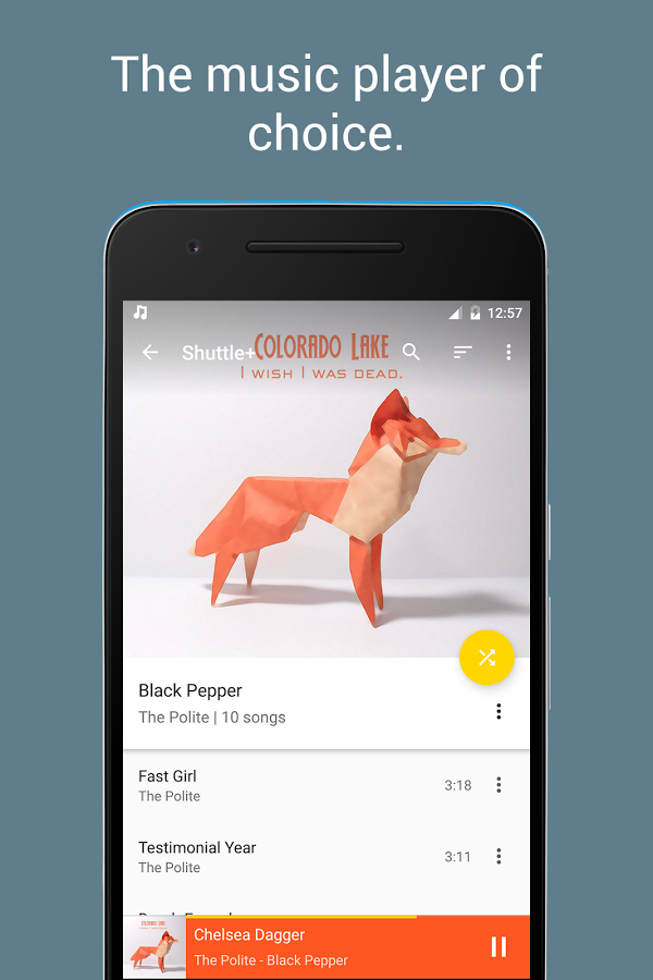Shuttle+ Music Player Android App Review