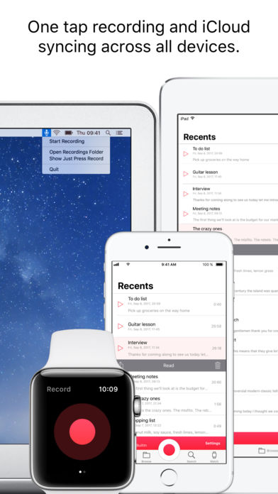 Just Press Record iPhone App Review