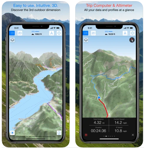 Maps 3D Pro Outdoor GPS iPhone App Review
