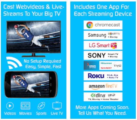 Video TV Cast Streaming Browser Android App