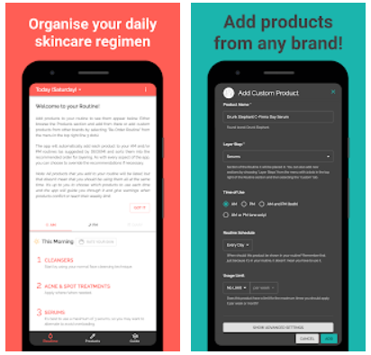 Skincare Routine Android App Review