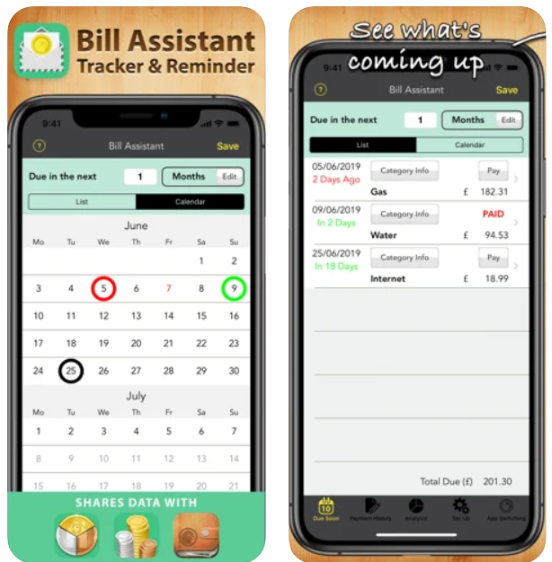 Bill Assistant Pro iPhone App Review