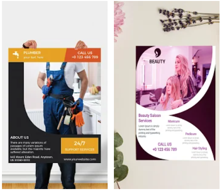 Flyers Poster Maker Graphic Design Android App Review